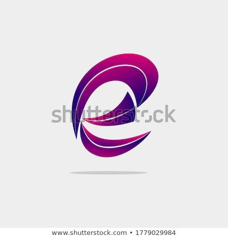 синий полумесяц форма вектора Сток-фото © cidepix