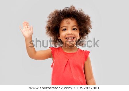 Cute kid Mädchen Typografie Illustration Stock foto © lenm