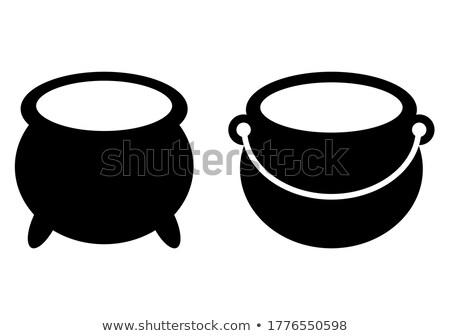 cauldron empty. Pot isolated. metal boiler. Magic Witches  bowle Stock photo © popaukropa