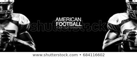 americano · futbolista · brillante · arco · iris · silueta · aficionados - foto stock © krisdog