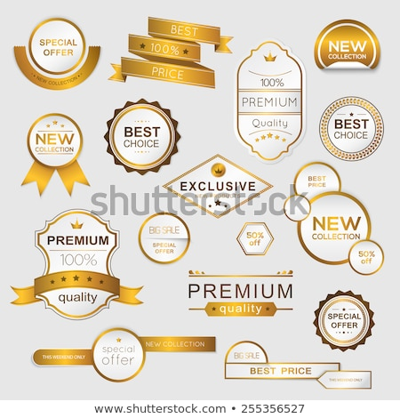 Golden Label and Best Choice Vector Illustration Stock photo © robuart