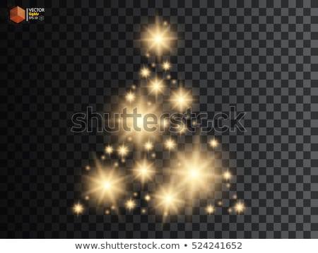 ライト · クリスマスツリー · 花輪 · 暗い · コピースペース - ストックフォト © TanaCh