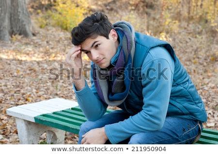 疲れ 小さな ハンサムな男 屋外 選手 トレーニング ストックフォト © artfotodima