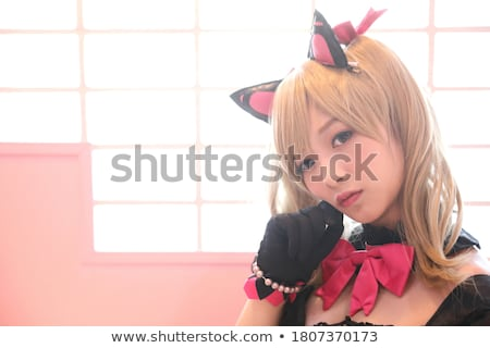 Japan anime cosplay. Fashion Asian girl. Stock photo © artfotodima