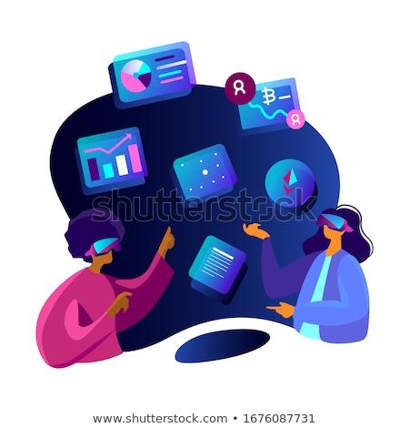 ビジネスマン · 金融 · 技術 · ビジネス · bitcoinの · バイナリコード - ストックフォト © dolgachov