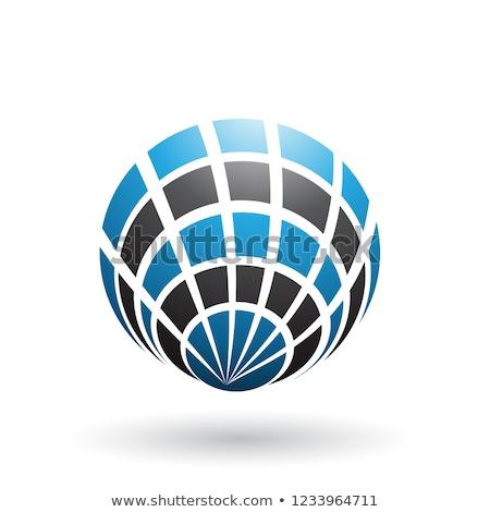 Blu nero shell come icona vettore Foto d'archivio © cidepix