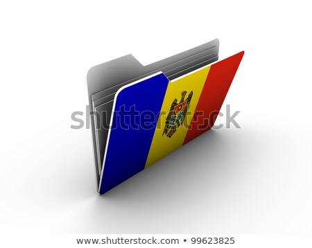 флаг · Молдова · флагшток · 3d · визуализации · изолированный · белый - Сток-фото © mikhailmishchenko