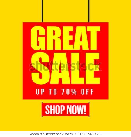 Quente verão venda para cima por cento Foto stock © robuart