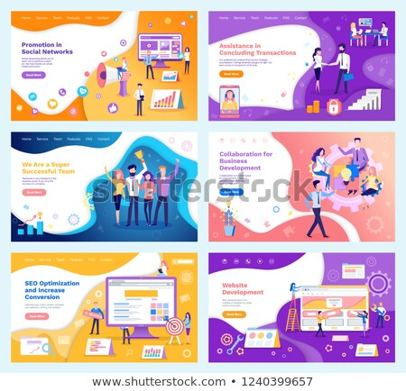 Online Banking Poster Text Vector Illustration Stock photo © robuart