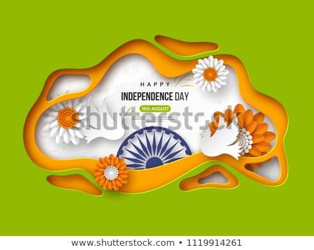Hindistan mutlu cumhuriyet gün tebrik kartı kâğıt Stok fotoğraf © orensila