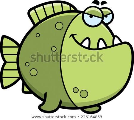 Sly Cartoon Piranha Stock photo © cthoman