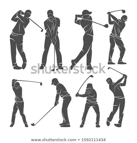 гольфист человека икона логотип символ элемент Сток-фото © blaskorizov