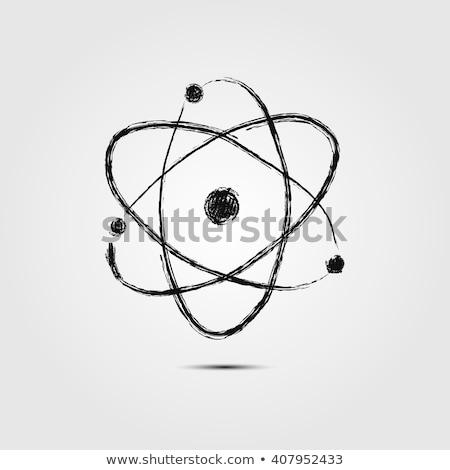 Elektronische atoom schets icon schets Stockfoto © RAStudio