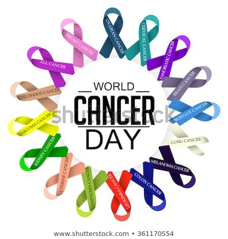 Wereld kanker dag Blauw tekst Stockfoto © Lana_M