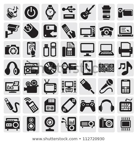 Comprimido clip-art vetor ícone projeto telefone Foto stock © blaskorizov