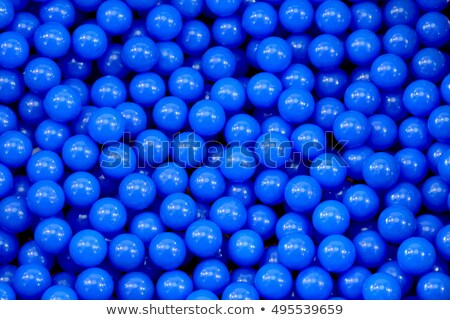 close up of plastic colorful blue ball at the playground Stock photo © galitskaya