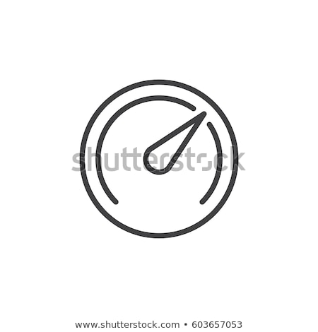 Speedometer, Gauge line icon, outline vector sign, linear style pictogram isolated on white. Symbol, Stock photo © kyryloff