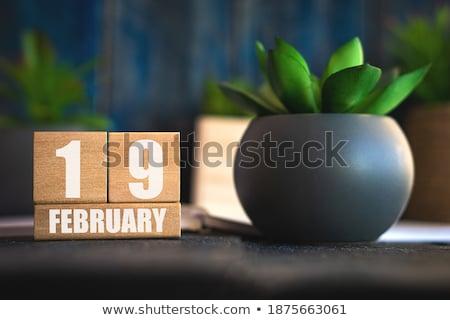 Cubes calendar 19th February Stock photo © Oakozhan