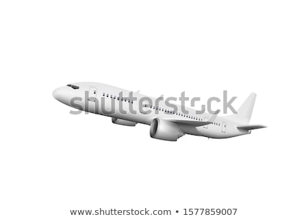 a big airplane on white background stock photo © colematt