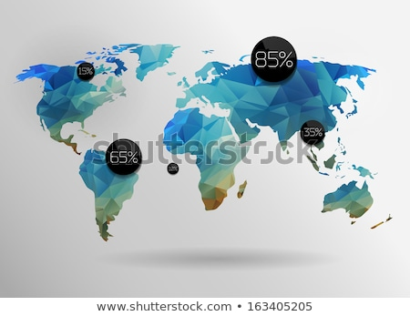 polygonal style illustration of earth globe asia and oceania vi stock photo © djmilic