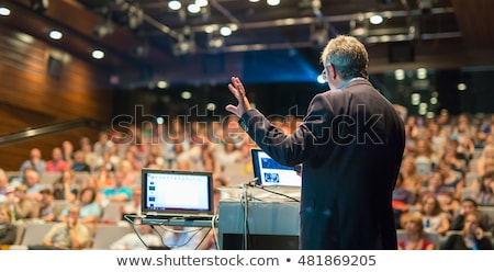 affaires · présentation · podium · homme · femmes · travaux - photo stock © lightpoet