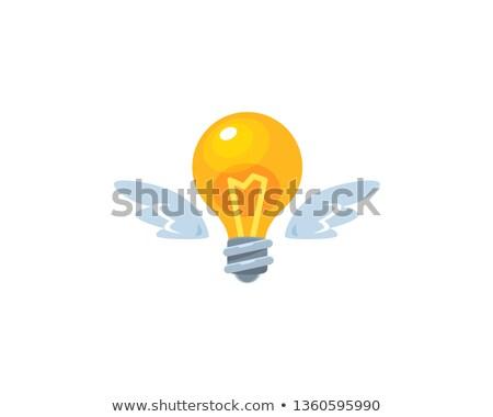 Ampoule battant autour simple ligne Photo stock © zsooofija
