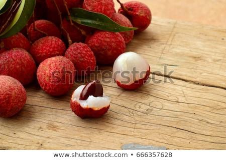 vermelho · realista · ilustração · escuro · fruto · cozinha - foto stock © ConceptCafe