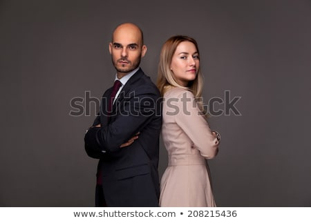 couple in business suits looking serious Stock photo © feedough