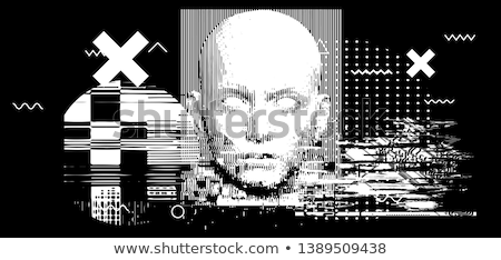White And Black Robot Stock photo © limbi007