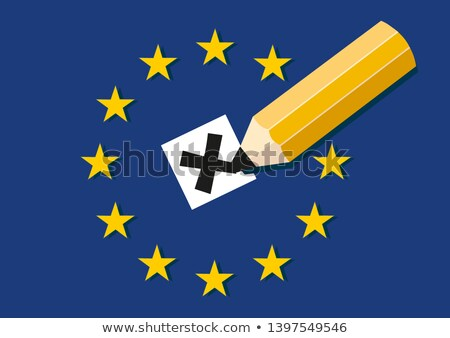illusztráció · szavazócédula · doboz · Euro · szimbólum · terv - stock fotó © doomko