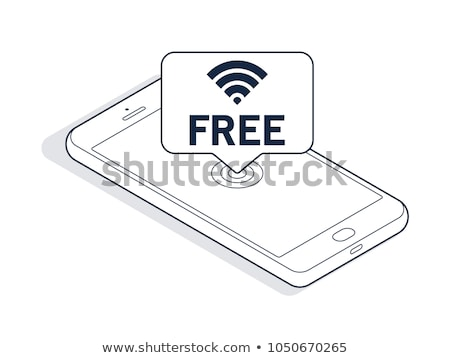 White outlined Wi Fi sign 3D Stock photo © djmilic