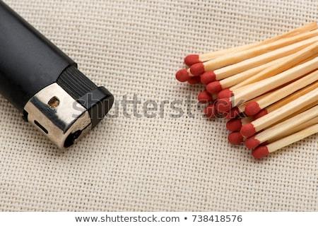 Partidos encendedor ilustración fuego madera vintage Foto stock © colematt