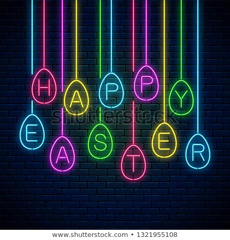 Happy Easter Neon Concept Stock photo © Anna_leni