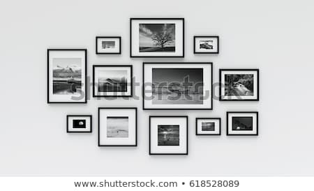 black picture frame set stock photo © cammep
