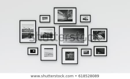 Zwarte fotolijstje ingesteld helling kantoor Stockfoto © cammep