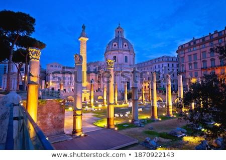ősi fórum tér Róma hajnal kilátás Stock fotó © xbrchx