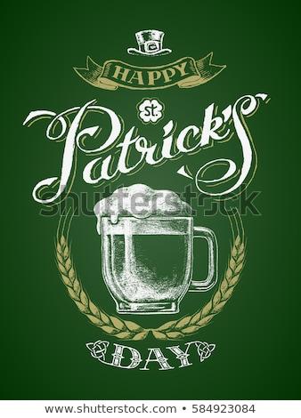 Color vintage irish pub emblem Сток-фото © netkov1