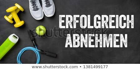 German Translation of Lose weight successfully - Erfolgreich ab Stock photo © Zerbor