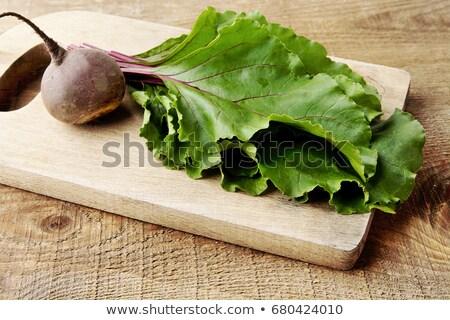 葉 · まな板 · ほうれん草 · 食品 · 木材 · 背景 - ストックフォト © dla4