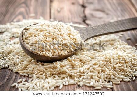 fakanál · nyers · organikus · piros · rizs · fehér - stock fotó © denismart