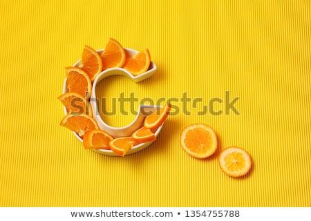 c · vitamini · doğal · tedavi · yoğunlaşmak · dilim · turuncu - stok fotoğraf © neirfy