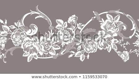 végtelen · minta · rózsák · virágok · absztrakt · rózsaszín · izolált - stock fotó © redkoala