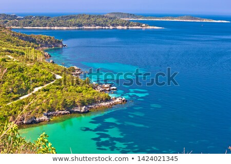 Dubrovnik archipelago coastline view near Cavtat Stock photo © xbrchx