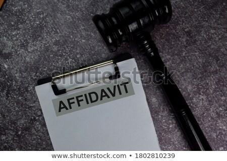 Forma lei livro gabela mesa de madeira papel Foto stock © AndreyPopov