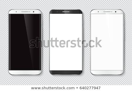 realista · comprimido · laptop · exibir · conjunto - foto stock © netkov1