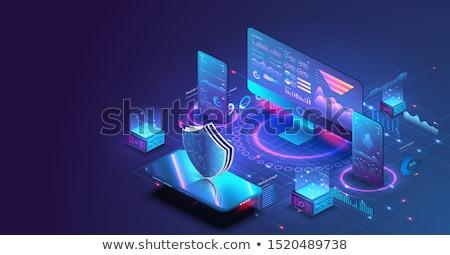 Gegevens analytics software mobiele illustratie Stockfoto © jossdiim