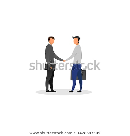 Representative Characters Shaking Hands Vector Stock photo © robuart