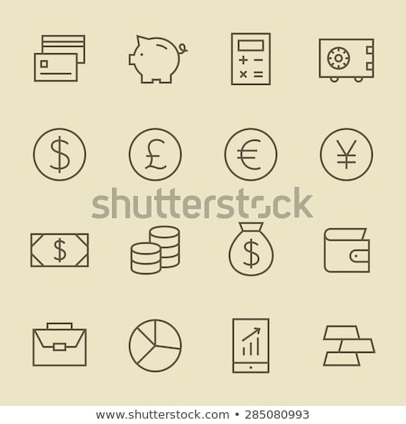 Currency Money Dollar Yen Vector Thin Line Icon Stock photo © pikepicture