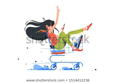 Betaling levering online dienst illustratie winkel Stockfoto © robuart