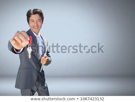 бизнесмен ключевые цифровой композитный счастливым домой Сток-фото © wavebreak_media